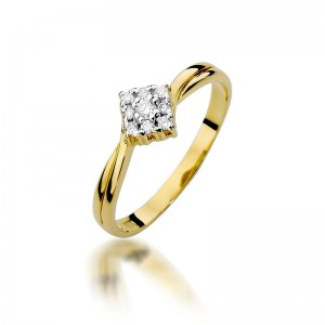 BEST DIAMONDS PIERŚCIONEK W-275 Z BRYLANTEM