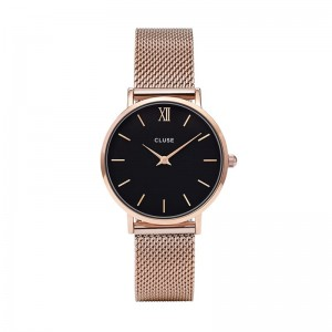 CLUSE ZEGAREK MINUIT ROSE GOLD BLACK