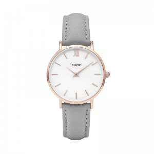 Cluse zegarek Minuit Rose Gold White/Grey