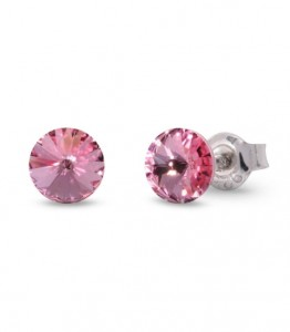 SPARK KOLCZYKI SMALL CANDY STUDS LIGHT ROSE